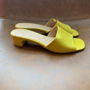 TopShop Yellow Open Toe Heeled Sandal Size 39